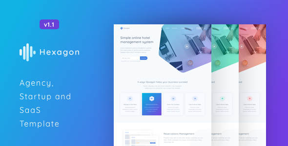 Hexagon - Agency, Startup and SaaS Template - Software Technology