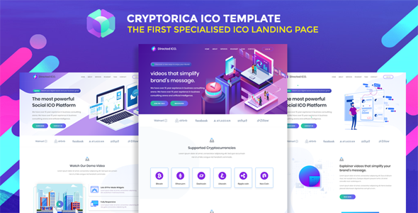 Cryptorica - ICO and Cryptocurrency Template