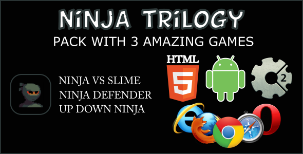 Ninja Trilogy HTML5 Games (CAPX)