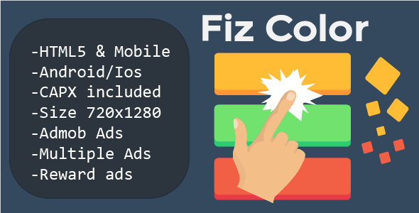 Fiz Color (HTML5 + Mobile Version) Construct 2 - CodeCanyon Item for Sale