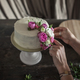 female decorating cake with flowers - PhotoDune Item for Sale