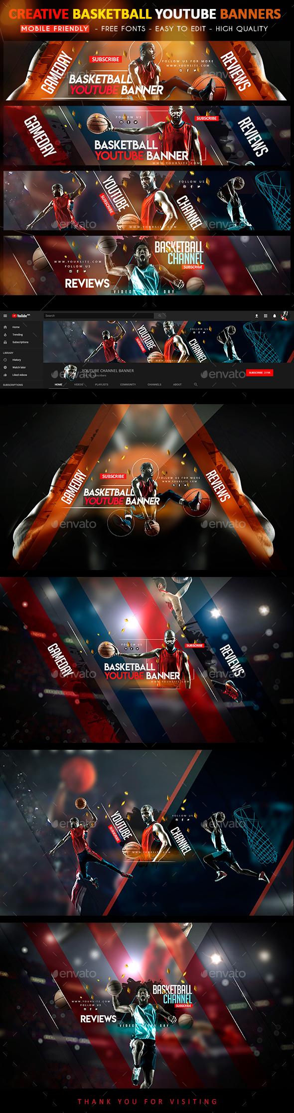 Creative Basketball YouTube Banners - YouTube Social Media