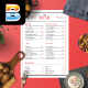 Simple Modern Food Menu - GraphicRiver Item for Sale