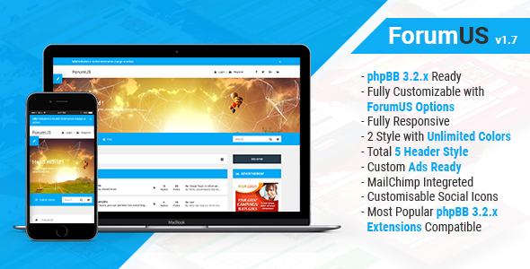 ForumUS | Responsive phpBB 3.2.2 Style / Theme - PhpBB Forums