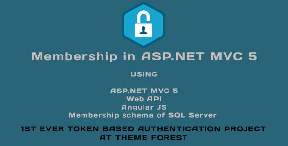 Membership in ASP.NET MVC 5 (Web API, Angular JS, Membership schema of SQL Server)            Nulled