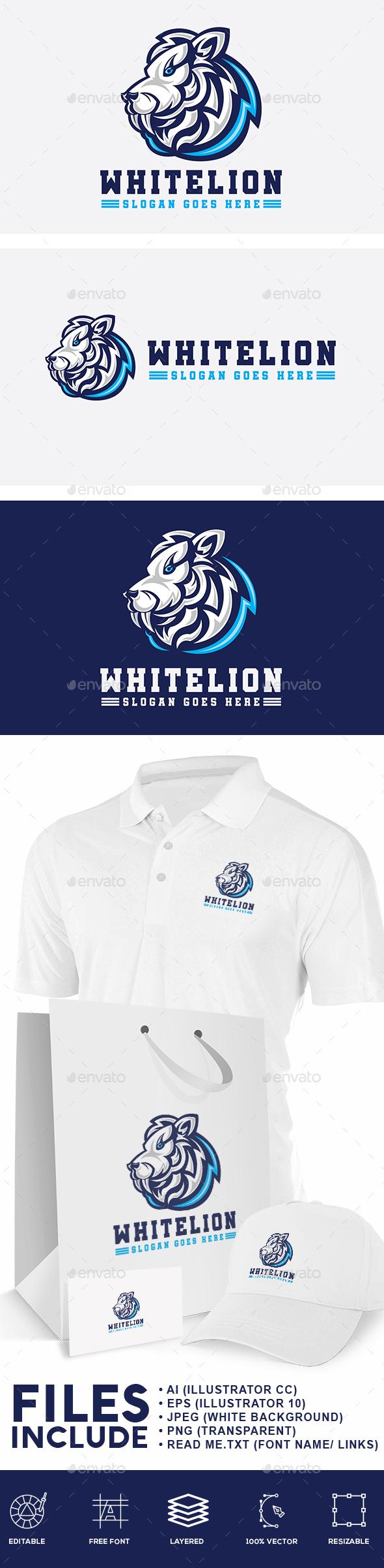White Lion Logo - Animals Logo Templates