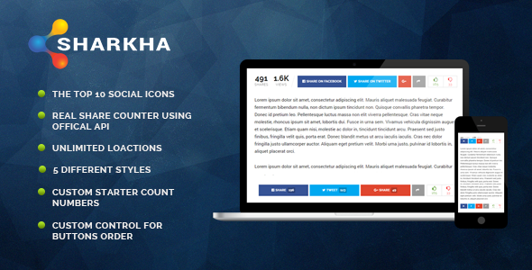 Sharkha - Share Counter, Views Counts & Voting System            Nulled