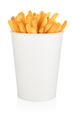 French fries bucket isolated