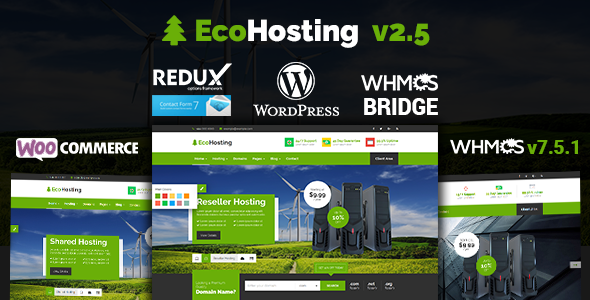 EcoHosting | Responsive Hosting and WHMCS WordPress Theme - Hosting Technology