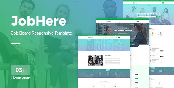 JobHere - Job Board Responsive Bootstrap 4 Template - Business Corporate