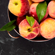 Ripe peaches in a bowl - PhotoDune Item for Sale
