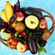 Healthy colorful food selection  in basket - PhotoDune Item for Sale