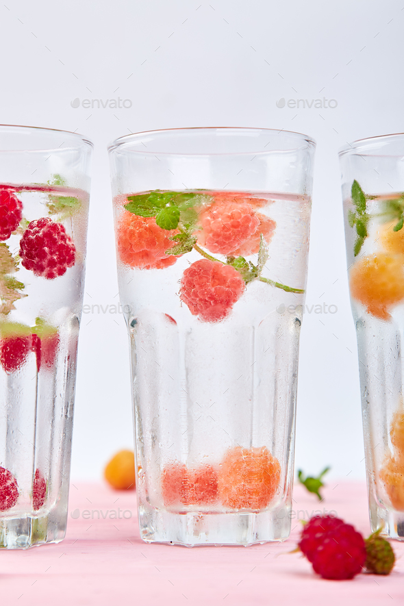 Detox infused flavored water - Stock Photo - Images