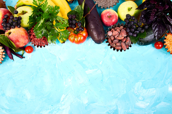 Healthy colorful food selection - Stock Photo - Images