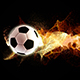 Spinning Football with Flowing Fire Particles - VideoHive Item for Sale
