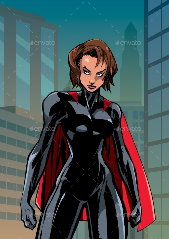 Superheroine Battle Mode City Vertical - People Characters