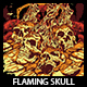 Flaming Skull T-shirt Design - GraphicRiver Item for Sale