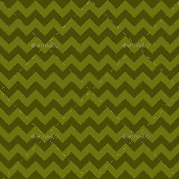 Seamless chevron pattern, green khaki colors. Vector illustration - Stock Photo - Images
