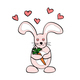 Cute cartoon rabbit holds a carrot in hands - PhotoDune Item for Sale