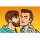 Men Couple Friendship Meeting  Smartphone Selfie