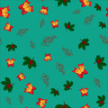 Christmas seamless pattern with jingle bells