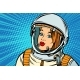 Serious Woman Astronaut - GraphicRiver Item for Sale