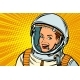 Smiling Woman Astronaut - GraphicRiver Item for Sale