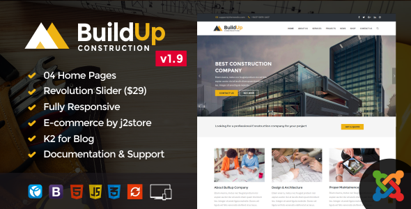 Image of Buildup – Construction Joomla Template