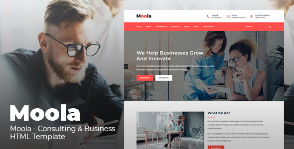Moola - Consulting & Business HTML Template - Business Corporate