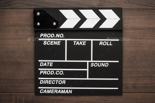 Vintage Classic Clapperboard  - Stock Photo - Images