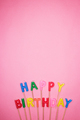 Letter-shaped Happy Birthday Candles  - PhotoDune Item for Sale