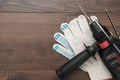 Hammer Drill And Gloves  - PhotoDune Item for Sale