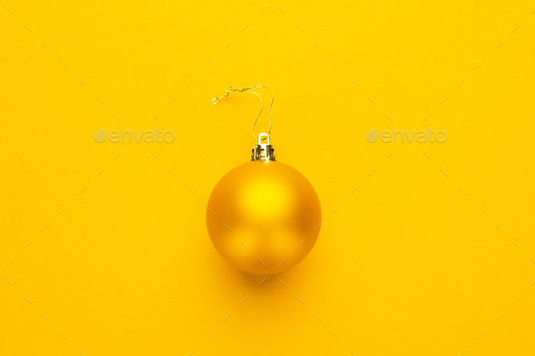Yellow Christmas Tree Decoration  - Stock Photo - Images