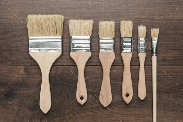 Brushes On The Table  - Stock Photo - Images