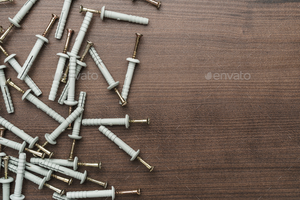 Dowels On The Table  - Stock Photo - Images