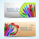 Two Scholastic Banner Set - GraphicRiver Item for Sale