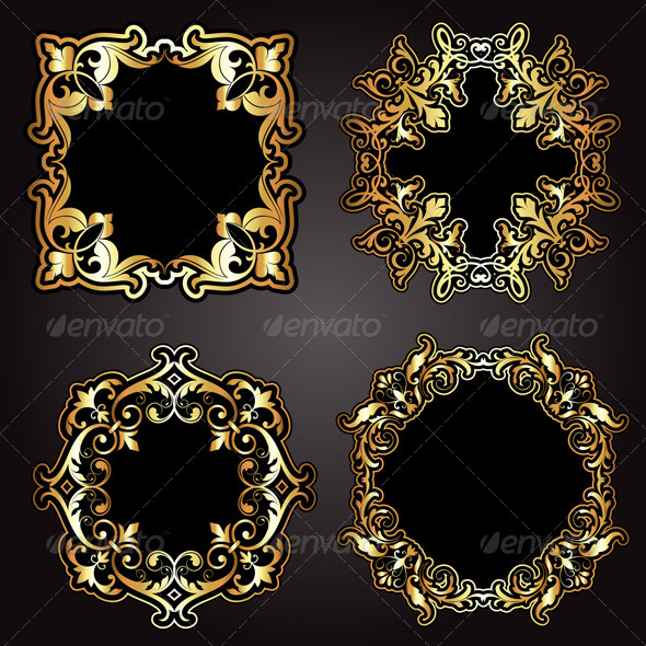 Gold Frames - Borders Decorative