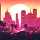 Outrun Retrowave City VJ Loop - VideoHive Item for Sale