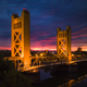 Sacramento Tower Bridge at Sunset - PhotoDune Item for Sale