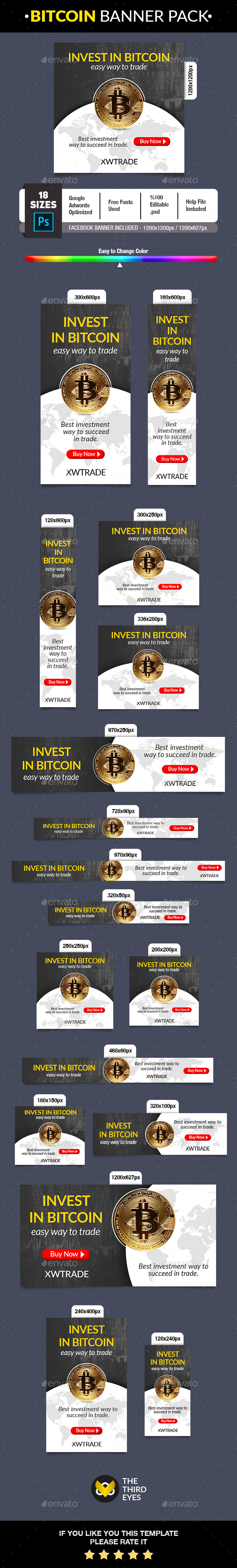 Bitcoin Crypto Currency Banner - Banners & Ads Web Elements