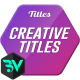 Creative Titles Animation - VideoHive Item for Sale