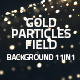 Gold Particles Field Background 11in1 - VideoHive Item for Sale