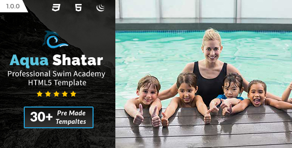 Aqua Shatar - Professional Swim Academy HTML5 Template - Health & Beauty Retail