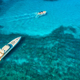 Aerial view of luxury yachts in transparent blue sea - PhotoDune Item for Sale