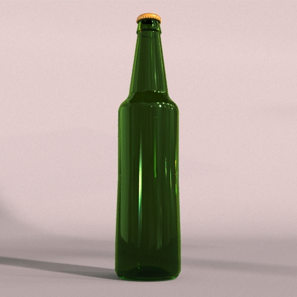 Green beer bottle - 3DOcean Item for Sale