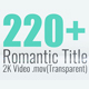 Romantic Title Pack - VideoHive Item for Sale