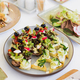 canapes in plate on festive table - PhotoDune Item for Sale
