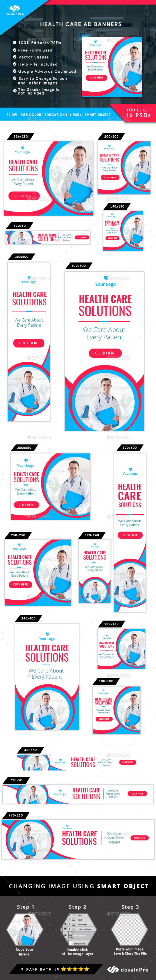 Healthcare Service Ad Banner - AR - Banners & Ads Web Elements