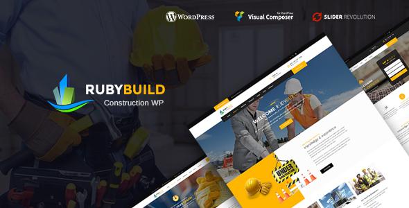 RubyBuild – Building & Construction WordPress Theme - Business Corporate