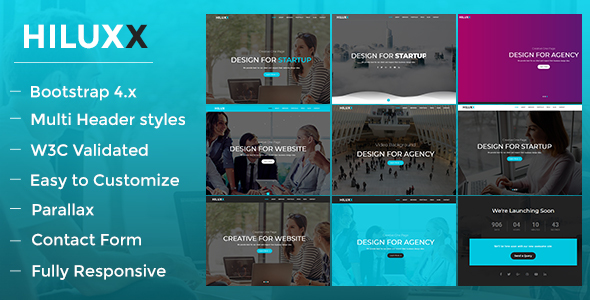 Hiluxx - One Page Parallax Multipurpose Template - Creative Site Templates